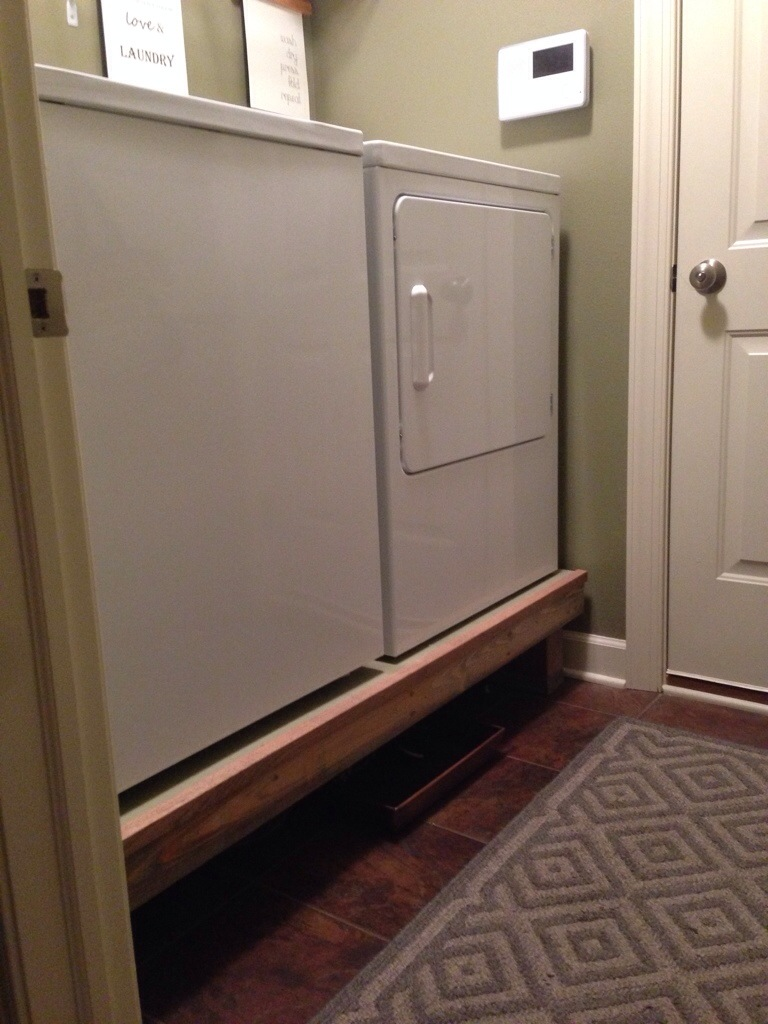 Washer amp Dryer Pedestal Happily Before After